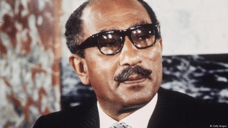 Anwar Sadat, president of Egypt from 1970 until his assassination by fundamentalist army officers in 1981 (photo: Getty Images)