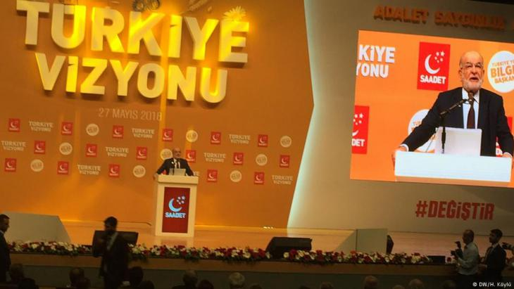 Turkey's Felicity Party announced its election manifesto in Ankara on 27 May 2018 (photo: DW/Hilal Koylu)