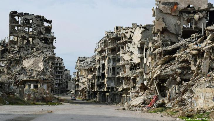 The ruins of Homs (photo: picture-alliance