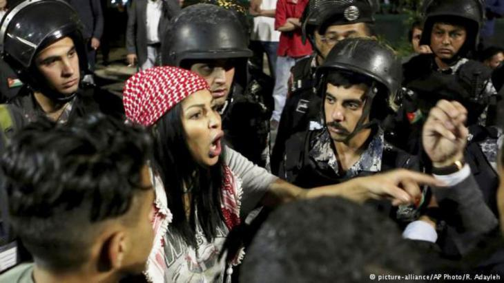 Protests in Amman (photo: picture-alliance/AP)