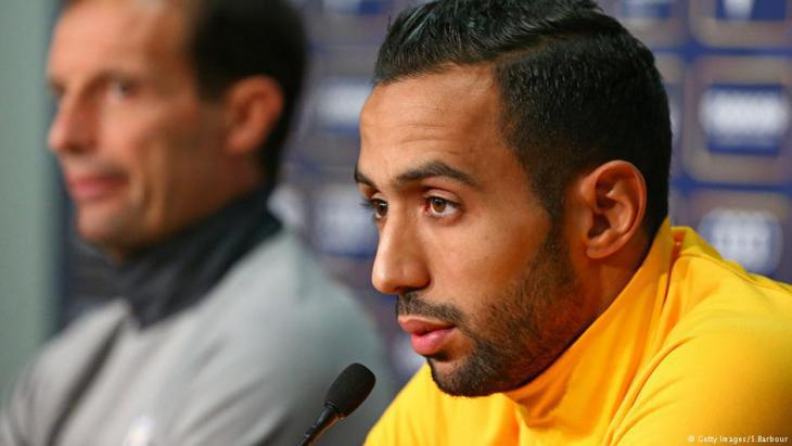 Mehdi Benatia during a Juventus Turin press conference (photo: Getty Images/S. Barbour)
