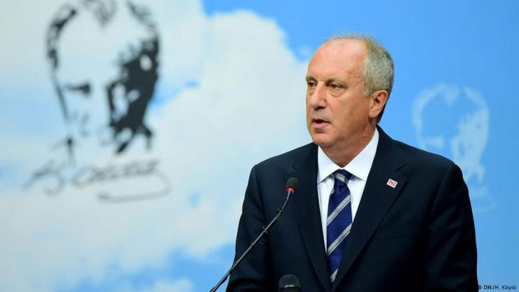 Muharrem Ince, candidate for the main opposition party CHP (photo: DW)
