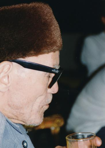 Sheikh Imam at a private function in Cairo in 1994 (photo: Martina Sabra)