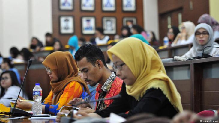 Students at Depok University (photo: imago/Xinhua)
