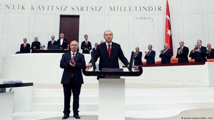 Inauguration of Recep Tayyip Erdogan in the Turkish parliament in Ankara on 09.07.2018 (photo: picture-alliance/AA)