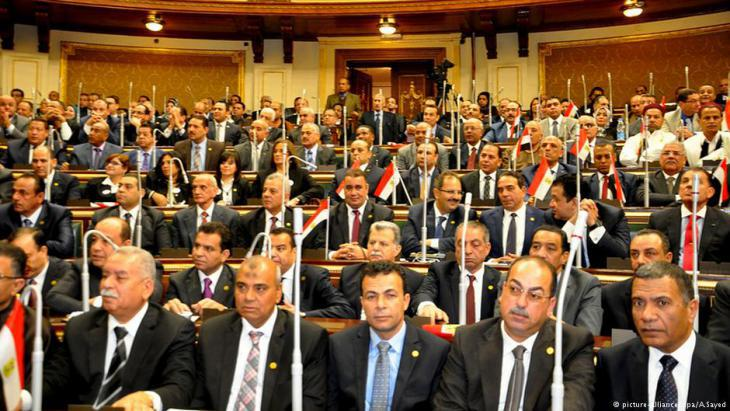 Political representatives of the Egyptian parliament in session, Cairo (photo: dpa/picture-alliance)