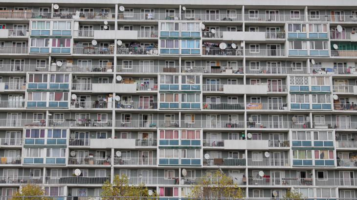 High-rise apartment buildings in a Paris suburb (photo: Al Jazeera English)