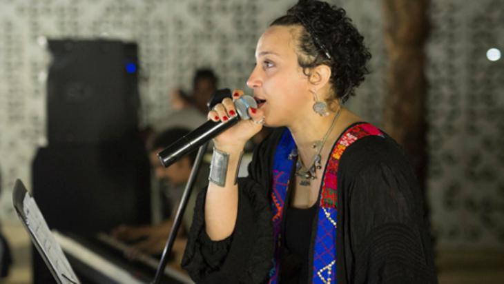 Egyptian singer Maryam Saleh at the launch of Jeem in Cairo (photo: Roger Anis)