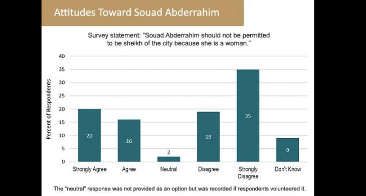 Diagram showing attitudes towards Souad Abderrahim (source: sada/Carnegie Endowment for Peace)