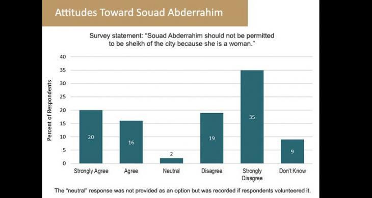 Diagram showing attitudes towards Souad Abderrahim (source: sada/Carnegie Endowment for Peace)