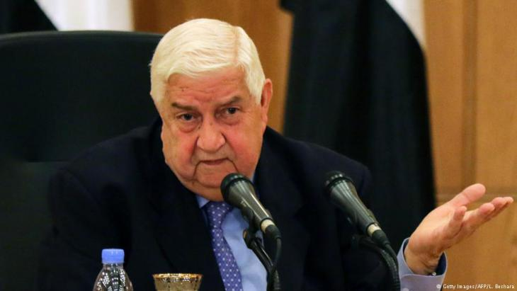 Syrian Foreign Minister Walid Muallem speaks during a press conference on 12 March 2016 in Damascus (photo: Getty Images/AFP/L. Beshara)