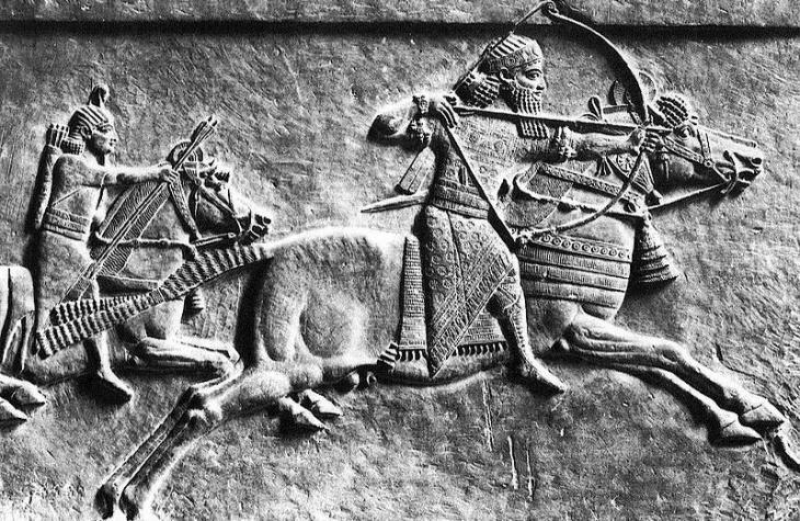 Hunting scene depicting King Assurbanipal (source: Wikipedia)