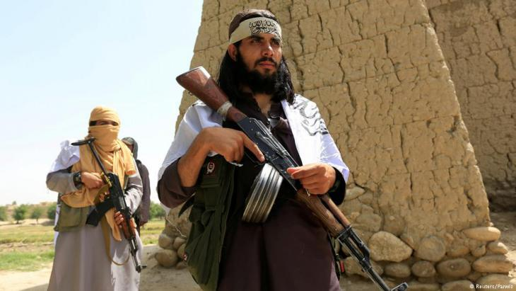 Taliban fighters during the ceasefire in Ramadan in mid-June (photo: Reuters/Parwiz)