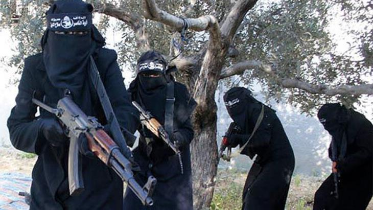 Female supporters of IS (photo: dpa/picture-alliance/SyriaDeeply.org)