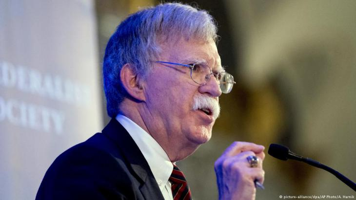 John Bolton, Donald Trump's national security adviser (photo: picture-alliance/dpa/AP Photo/A. Harnik)