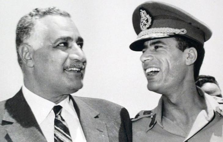 Egyptian President Gamal Abdel Nasser and Libyaʹs Muammar al-Gaddafi (photo: dpa/AP)