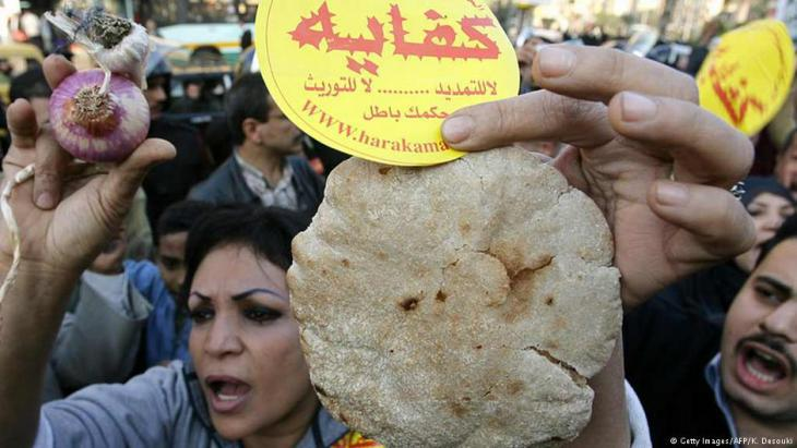 """Kifaya"" demonstration in Cairo over rising food prices (photo: Getty Images/AFP/K. Desouki)"