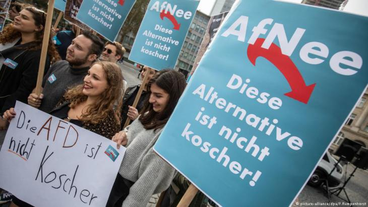 Demonstrations in Frankfurt am Main against the new Jewish AfD group (photo: picture-alliance/dpa)