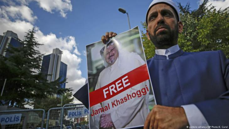 Demonstrators in Turkey have been demanding the release of Khashoggi for days (photo: picture-alliance/AP)