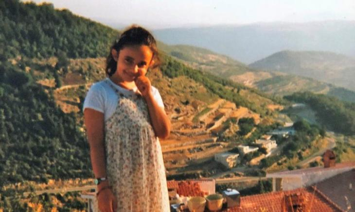 Huda on holiday in the village in Syria where her parents grew up (photo: private)