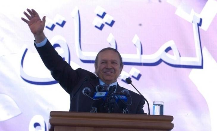Algerian President Abdelaziz Bouteflika during his campaign for the referendum on the Charter for Peace and National Reconciliation, in September 2005 (source: Democratic and Popular Republic of Algeria website)