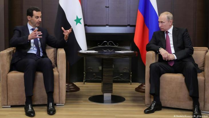 Bashar al-Assad in a meeting with Vladimir Putin (photo: Reuters)