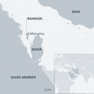 Map of Qatar and the neighbouring Gulf states (source: DW)