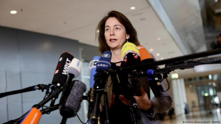 Germanyʹs Federal Justice Minister Katarina Barley, SPD (photo: picture-alliance/dpa)