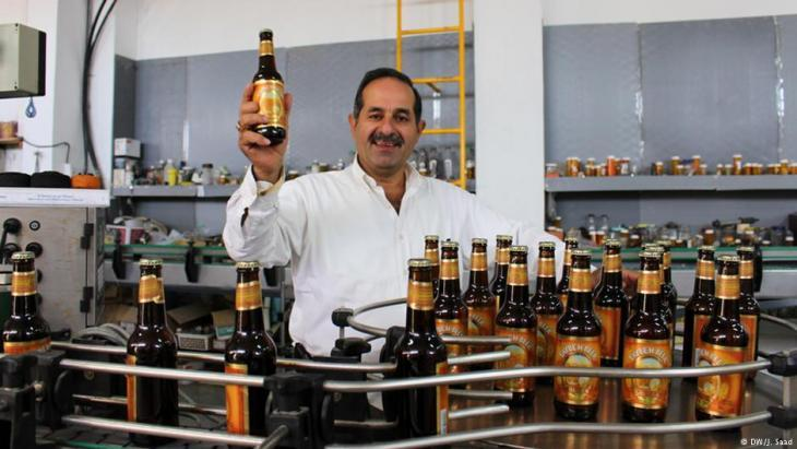 Nadim Khoury, founder and owner of Taybeh, the first brewery in the Palestinian Territories (photo: DW/Jamal Saad)