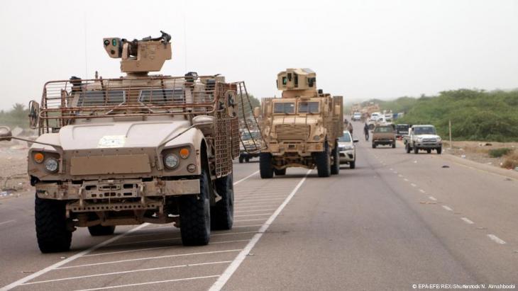 Yemeni forces backed by the Saudi-led coalition take position during an attack on the port city of Hodeidah, on the outskirts of Hodeidah, Yemen, 13 June 2018 (EPA-EFE/REX/Shutterstock/N. Almahboobi)