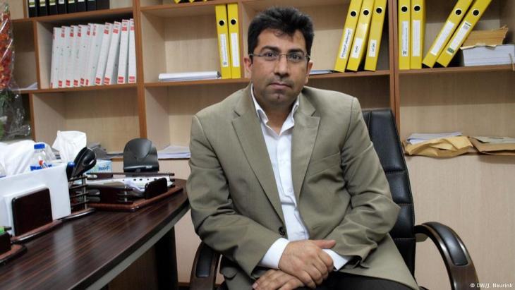 Yazidi activist Mirza Dinnayi (DW/J. Neurink)