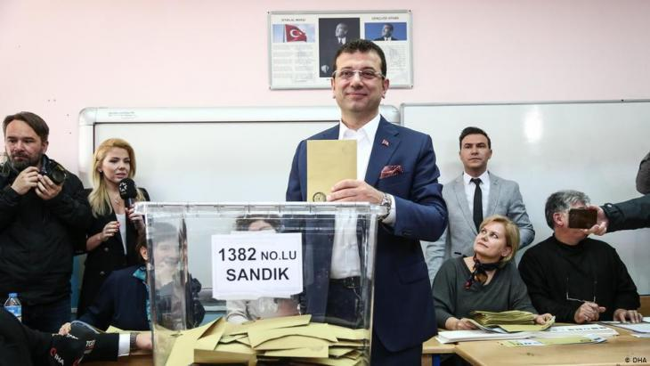 Ekrem Imamoglu from the opposition CHP party (photo: DHA)