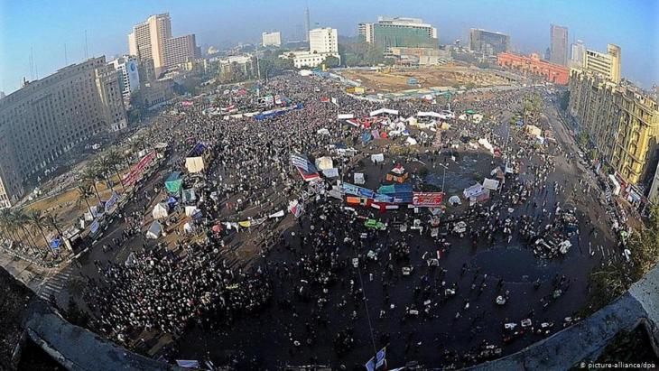 Cairoʹs Tahrir Square as it looked at the height of the January 25 rebellion in 2011 (photo: picture-alliance/dpa)
