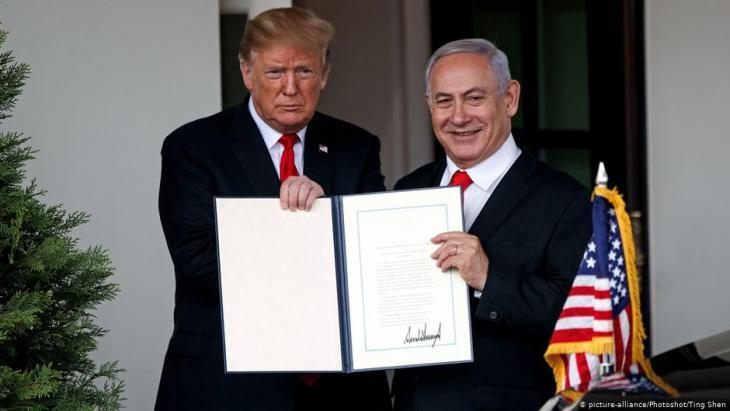 Trump formally recognises Israelʹs sovereignty over the Golan Heights (photo: picture-alliance/Xinhua)