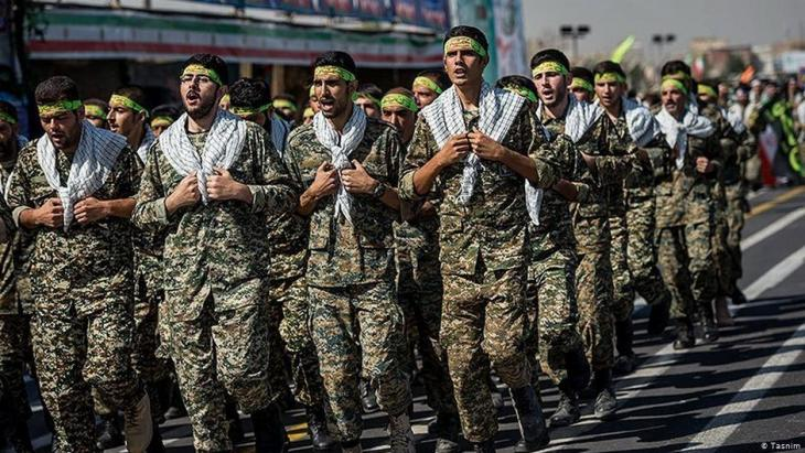 Revolutionary Guards in Tehran (photo: Tasnim)