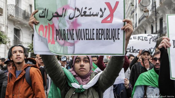 Protests against Bouteflikaʹs projected fifth term in office on 19 April 2019 (photo: picture-alliance)