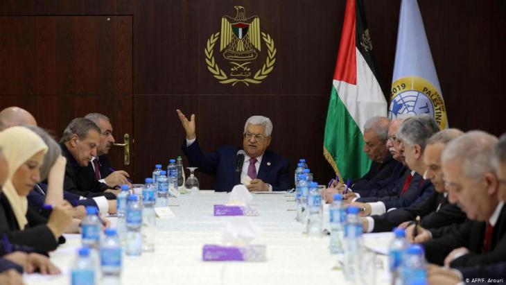 Swearing in of the new Palestinian Authority cabinet in Ramallah on 13.04.2019 (photo: F. Aroun/AFP)