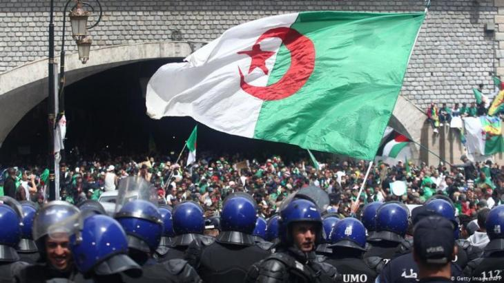 Police secure a recent demonstration in Algiers (photo: Getty Images/AFP)