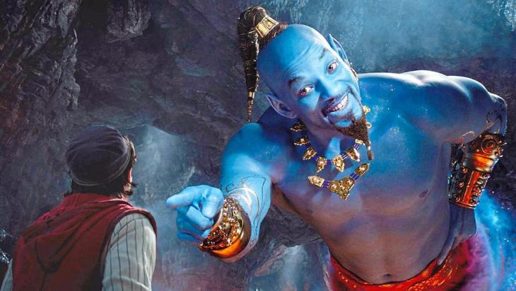 """Still from """"Aladdin"""" – a re-make of the Disney cartoon with Will Smith playing the genie in the lamp"""