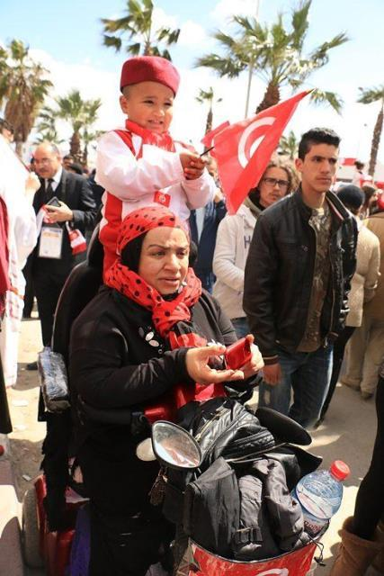 Protest in Tunis in spring 2012 against the conservative Islamic Ennahda party (photo: Aya Chebbi)