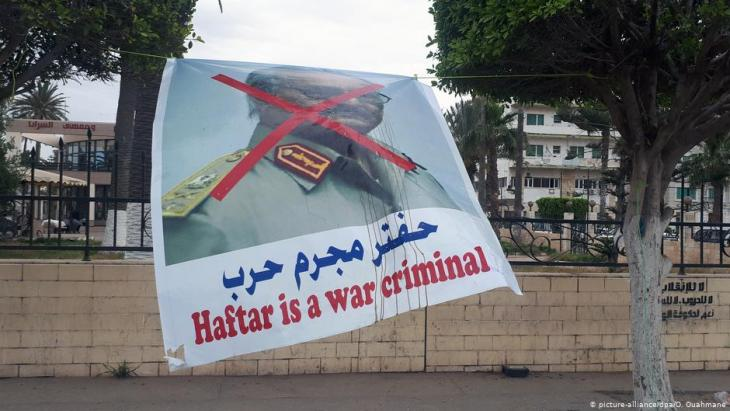 Poster in the Libyan capital Tripoli in May 2019 (photo: picture-alliance/dpa)