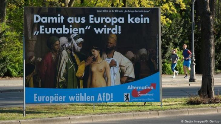 AfD poster in Germany (photo: Getty Images/S. Gallup)