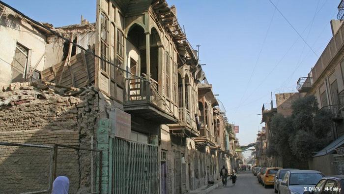 Ancient buildings in Baghdad's Jewish quarter (photo: DW/M- Al-Saidy)