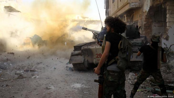 Khalifa Haftar's rebel troops close in on the Libyan capital, Tripoli (photo: Getty Images/AFP/A. Doma)