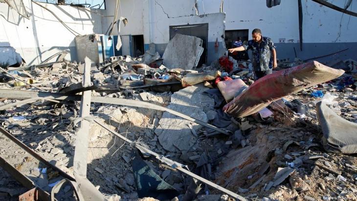 Following the air raid on Tajoura refugee camp (photo: Reuters)