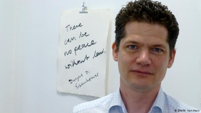 International criminal lawyer Lars Berster, Cologne University (photo: DW/M. von-Heim)