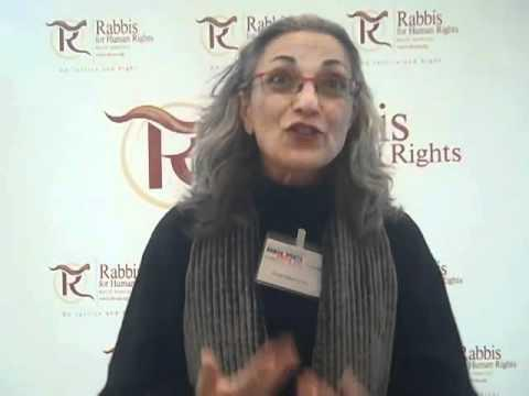 Rabbi Nava Hefetz from the Rabbis for Human Rights initiative (source: YouTube)