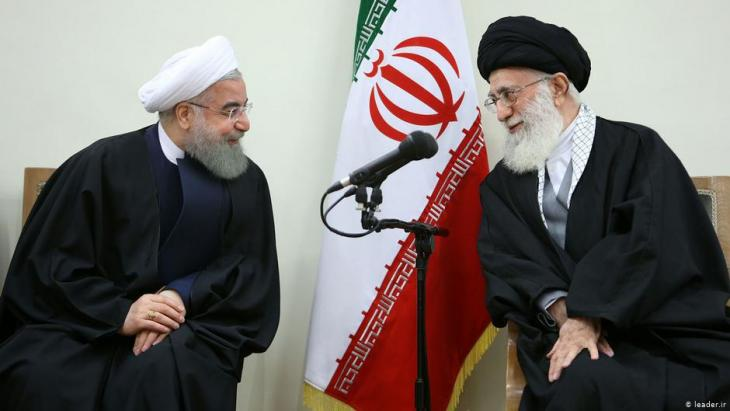 Iranʹs spiritual leader Ayatollah Ali Khamenei (left) and President Hassan Rouhani (photo: leader.ir)