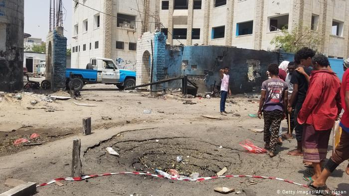 Suicide attack on a police station in the de-facto capital, Aden, in August 2019 (photo: Getty Images/AFP)