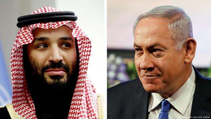 Photomontage: Saudi Crown Prince Mohammed bin Salman (left) and Israeli Prime Minister Benjamin Netanyahu (photo: Reuters/A. Levy & A. Cohen)